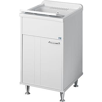Lavatoio Lavello In Resina Doppia Anta 60x50cx Altezza 85 Cm