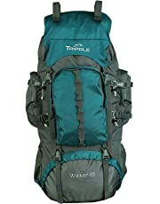 Tripole Walker 65 Litres Rucksack | Bottom Opening | Rain Cover | Laptop Section (Sea Green)