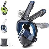 Glymnis Maschera Snorkeling Maschera Subacquea Immersione Panoramica Integrale a 180°, Anti-Appannamento, Anti-Infiltrazioni