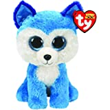 Ty - Beanie Boo's - Peluche Prince le Chien Husky, TY36310, Blanc / Bleu, 15 cm