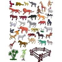 GRAVITY Mini World Animal Set (40 Pcs Set) with Box   Wildlife Model Children Puzzle Early Education Gift Mini Jungle…