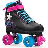 SFR Vision II - Rollerskates mit Leuchtstern - Schwarz/Pink/Blau