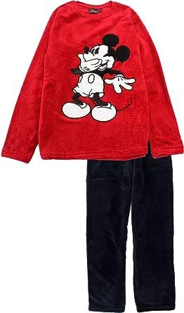 Disney Mickey Mouse Men Giggles Coral Fleece Long Sleeve Pyjama Set