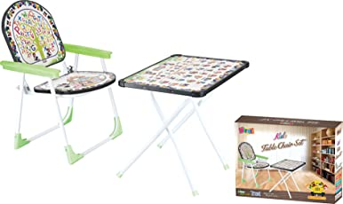 Kirat Baby Table Chair Set Folding (Color May vary)