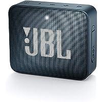 JBL GO 2 Mini Enceinte Portable - Étanche pour Piscine & Plage IPX7 - Autonomie 5hrs - Qualité Audio, Bluetooth, Bleu Foncé