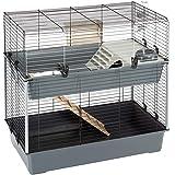 Feplast RABBIT 100 DOUBLE - Jaula de dos pisos para conejos , Casa para pequeños animales, Conejera con accesorios incluidos,