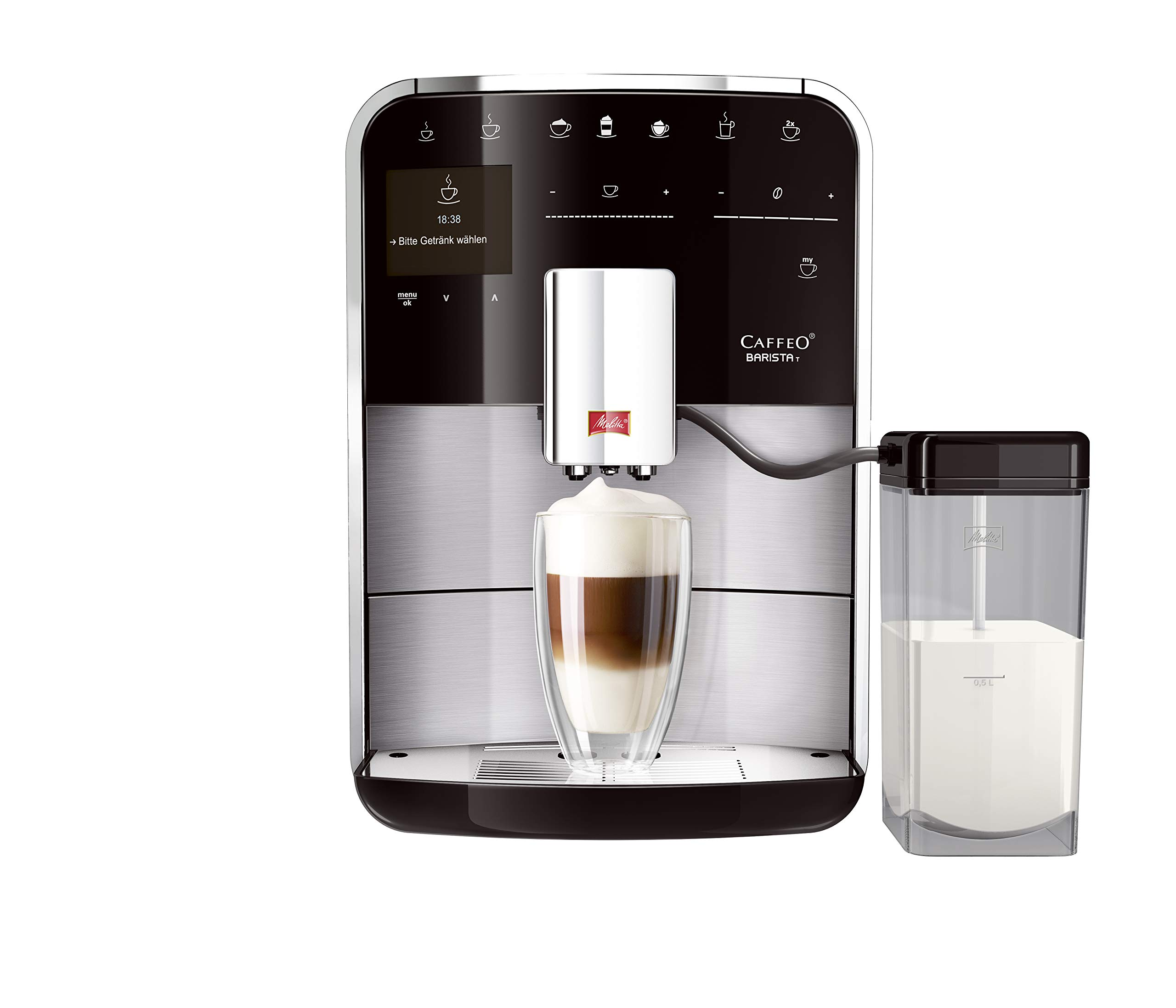 Melitta-217373-Caffeo-Barista-T-F-740-200-Kaffeevollautomat-frs-Bro-Touch-Funktion-Edelstahl-Kunststoff