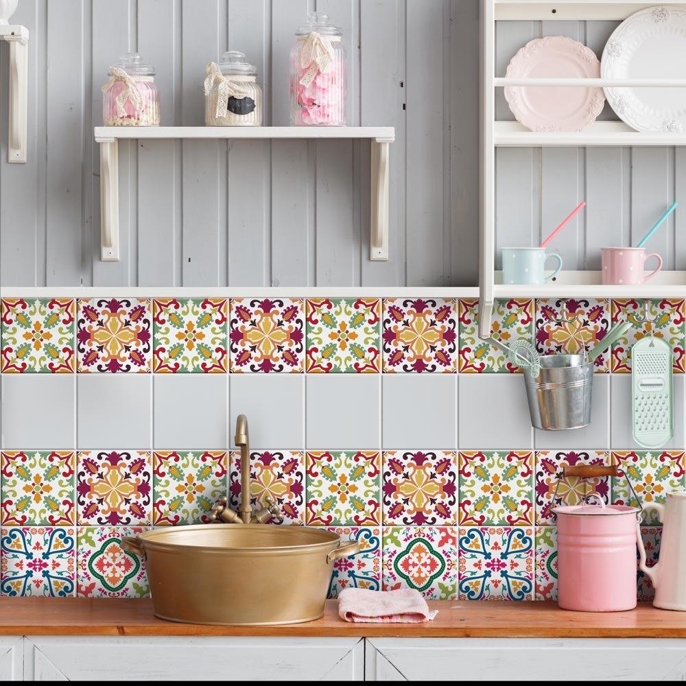 Wall art ps00037 adesivi in pvc per piastrelle per bagno e - Adesivi per piastrelle cucina ...