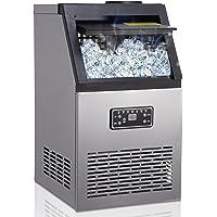 Machine à glaçons, 45 Glaçons Par 15Min, 70kg en 24 Hrs, 2 tailles de Glaçons, Machine a glacons professionnel, 11,5 KG…