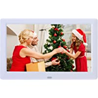 Digital Photo Frame High Resolution 1280x720 IPS LCD Screen,Calendar/Clock Function/MP3/Photo/Video Player with Remote…
