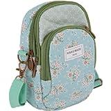 Ladies Girls Floral Crossbody Bag Mobile Phone Shoulder Bag Cotton Mobile Phone Handbag for Carrying Card Cellphone…