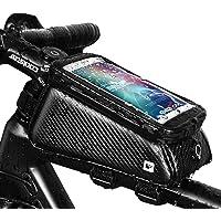 Grefay Borsa Telaio Bici Borsa da Manubrio per Biciclette Impermeabile Borse Biciclette Supporto Bici MTB BMX Inferiori…