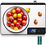 Bilancia Cucina Digitale, HOMEVER 15kg Bilancia Cucina con 6 Measuring Units, Schermo LCD, Funzione Tara, Design in Acciaio I