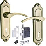Mortice Handle, Mortice Lock, Door Lock, ATOM 509 K.Y Brass Antique Door Handle with Lezend Double Action Lock 3 Keys,Mortise Lock,Door Lock