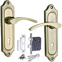 Mortice Handle, Mortice Lock, Door Lock, ATOM 509 K.Y Brass Antique Door Handle with Lezend Double Action Lock 3 Keys,Mortise Lock,Door Lock