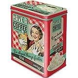 Nostalgic-Art Caja de Almacenamiento Retro L Have A Coffee – Idea de Regalo para Aficionados a Nostalgia, Lata Grande de café