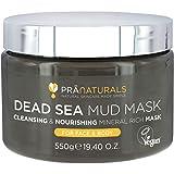 PraNaturals Dode Zee Moddermasker 550g 100% BIOLOGISCH, NATUURLIJK & VEGANISTISCH, Dierproefvrije Cosmetica - Rijk Aan Minera