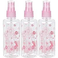 KABEER ART 100ml Empty Cute Bear & Floral Refillable Fine Mist Sprayer Spray Bottle Atomizer with Ultra-Fine Mist Pump…