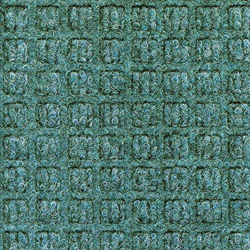 Andersen 210580014agua para interior/al aire libre para azulejos, Classic, entrada, polipropileno Fibber, cuadros, SBR goma Felpudo, 18cm de largo x 45cm de ancho, 1/4'de grosor, Bluestone (Pack de 12)