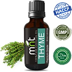 MNT Thyme Essential Oil 100% Pure Natural & Therapeutic Grade for Aromatherapy & Skin Care (30ML)