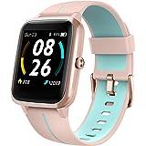 LIFEBEE Smartklocka GPS, smartklockor för kvinnor män, IP68 sportklockor, full touch fitnessklocka med 14 sportlägen, löparkl