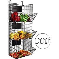 Corbeille à fruits de cuisine à 3 étages - Panier de rangement rustique pour fruits - Panier de salle de bain - Panier…