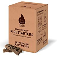 FireBuilder Accendifuoco Ecologico per focolari a Legna, fuochi all'Aperto e Barbecue. Non Sono necessari legnetti o…