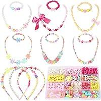 Toyssa 800+ Pièces Perles pour Enfants Bricolage Perles Set Kit de Fabrication de Bijoux Collier Bracelets Bandeau DIY…