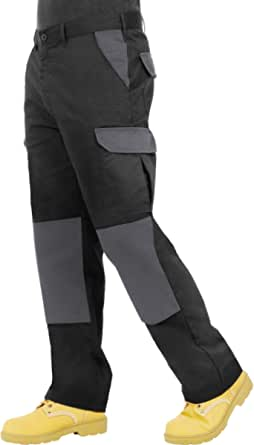 Endurance Mens Cargo Combat Work Trouser with Knee Pad Pockets and Reinforced Seams