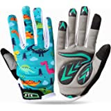 und Brille Cross Motorrad Quad Off-Road f/ür Youth Leopard Kinder Motocross Blau Handschuhe L - 7cm