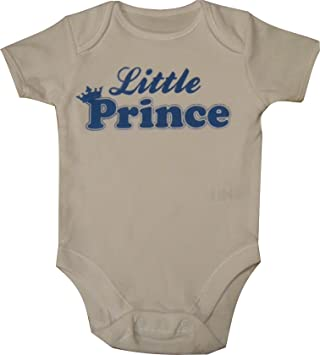 Baby Boys Little Prince Print Babies Vest Onesie Baby Grow Newborn-24mths 0-3 months