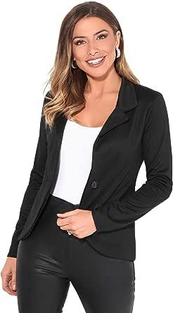 KRISP® Womens Boyfriend Blazer One Button Tailored Jacket Party Evening