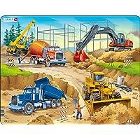 Larsen US1 Chantier de Construction, Puzzle Cadre avec de 30 pièces