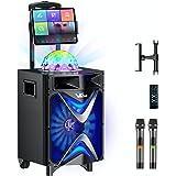 Machine de karaoké pour enfants et adultes, système de haut-parleurs de sonorisation portable avec haut-parleur Bluetooth Woo