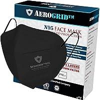 AeroGrid FFP2 (Pack of 1, Black) Earloop Reusable N95 Mask for Unisex