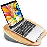 """HUANUO Laptop Stand with Cushion on Bed & Sofa, as Book Stand/Sleeping Pillow/Lap Desk with Cable Hole & Anti-Slip Strip, Fit up to 15.6"""" Notebook"""