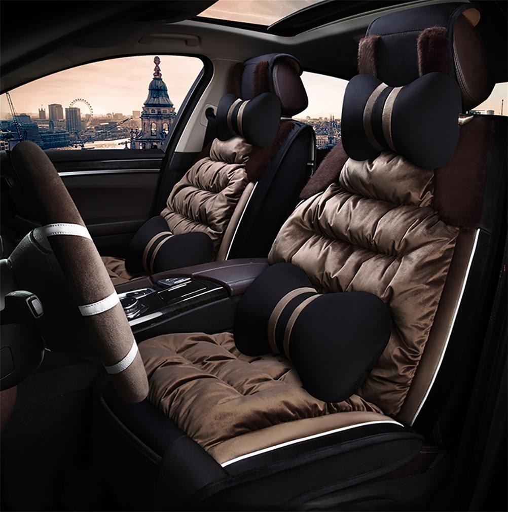 RUIRUI Set completo universale Copertura del sedile auto coperta Coprisedili , coffee