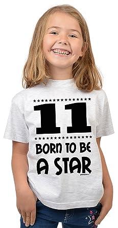 Mädchen Zum 11. Geburtstag 11 Jahre Alt T Shirt Girlie Shirt Geschenk Idee  Kindergeburtstag