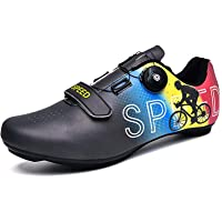 WDZJM cycling shoes women's men's road bike shoes with lock waterproof lightweight wear-resistant TPU cycling shoes…
