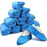 Home Care Wholesale Copriscarpe, 100 Pezzi Copriscarpe Monouso in Plastica Ispessita, Copriscarpe Durevoli per Antiscivolo, I