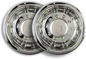 2 Stück Universelle Radzierblende 22 5 Zoll Mit Aufgesetzten Radmutterkappen Felgenauskleidung Tiefbett Antriebsachse Für Lkw Auto
