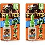Gorilla 7600116, (Pack of 2), 7600101-2 Super Glue Gel (2 Pack), 15 g