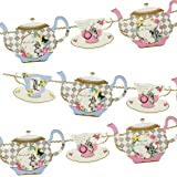 Talking Tables TSALICE Truly Alice Teapot Bunting, multicolor