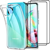 UCMDA Funda para Samsung Galaxy A71 - Protector de Pantalla, Fundas Transparente Silicona TPU Carcasa para Samsung Galaxy A71