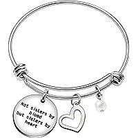 Bracciale rigido per migliore amica/sorella, perfetto come regalo di laurea, di matrimonio o di anniversario, con perla…