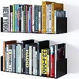 Dime Store Engineered Wood Bookcase ,Glossy Finish ,Set Of 2,Black