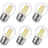 LVWIT 6W Ampoule LED Filament E27 G45, Equivalent à Ampoule Incandescence 60W, 806Lm 2700K Blanc Chaud, Ampoule Edison Vintag