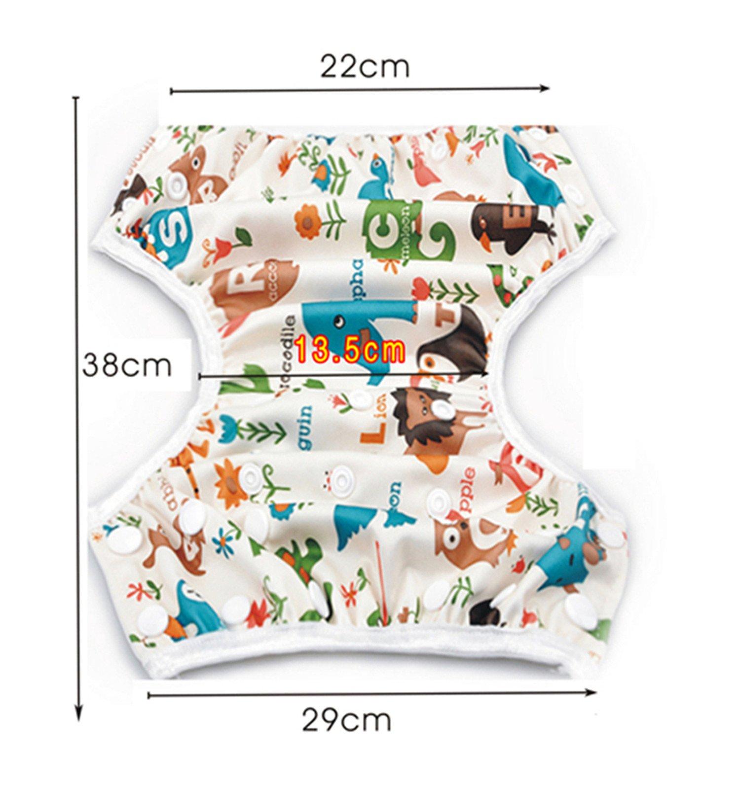 Storeofbaby Pannolini da nuoto Baby pannolini riutilizzabili Cover impermeabile per 0-36 mesi Unisex Confezione da 2 5 spesavip