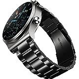 UANBOO Rem Kompatibelt med Huawei Watch GT2 Pro Rostfritt Stål Metallbyte till TicWatch Pro 3/HONOR Watch GS Pro/Huawei Watch