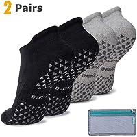 Hylaea Womens & Mens Non-slip Grip Socks for Yoga, Pilates, Hospital, Anti-Skid Slipper Barre Socks for Home Workout…